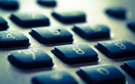 Close up photo of a telephone keypad